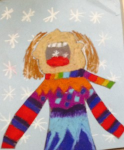 Winter Wonder by my 8 yr-old daughter, Maya