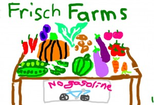 Frisch Farms sign