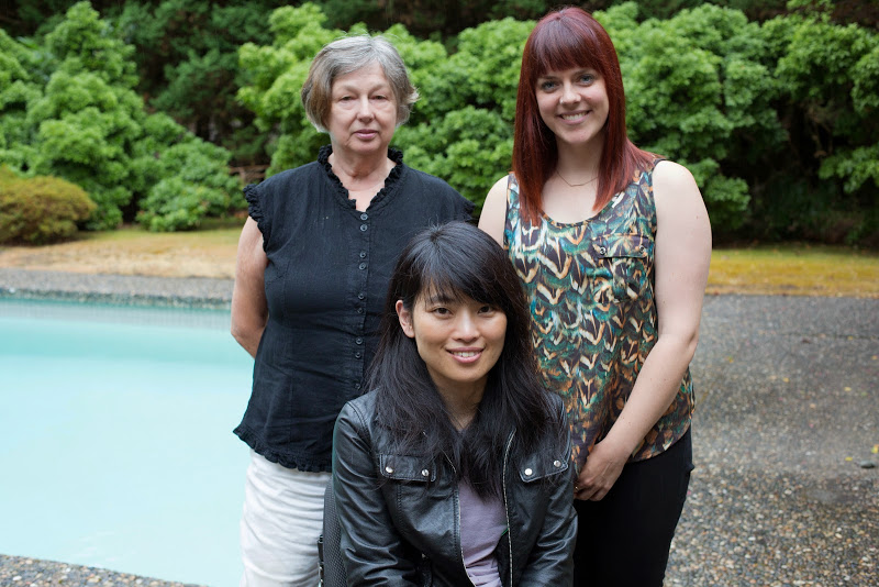 After the interview: (from Left) Mary, Keiko & Haley