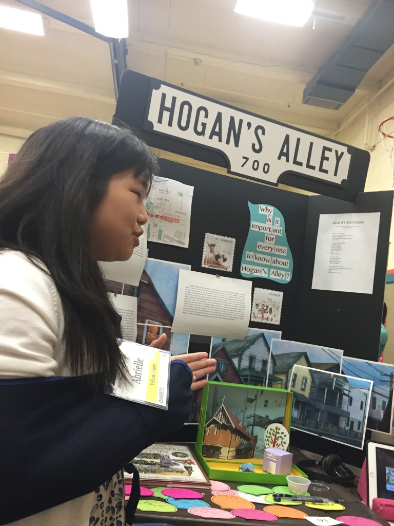 Abrielle Chan from Tecumseh Elementary whose work at the BC Provincial Heritage Fair in July.