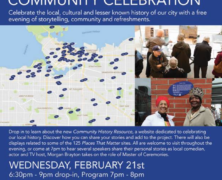 You're Invited! Place That Matter Community Celebration